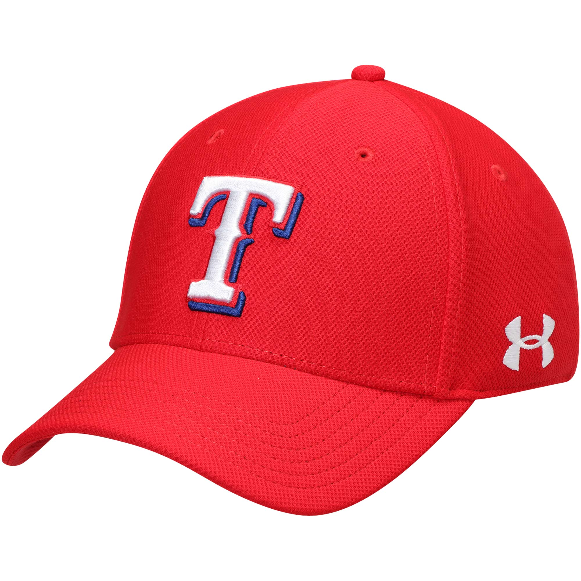 Texas Rangers Under Armour Blitzing Performance Adjustable Hat - Red - OSFA