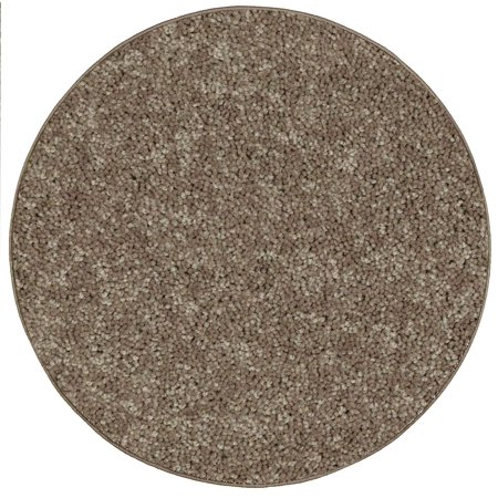 Home Queen Pet Friendly Area Rugs Brown - 7' Round ()