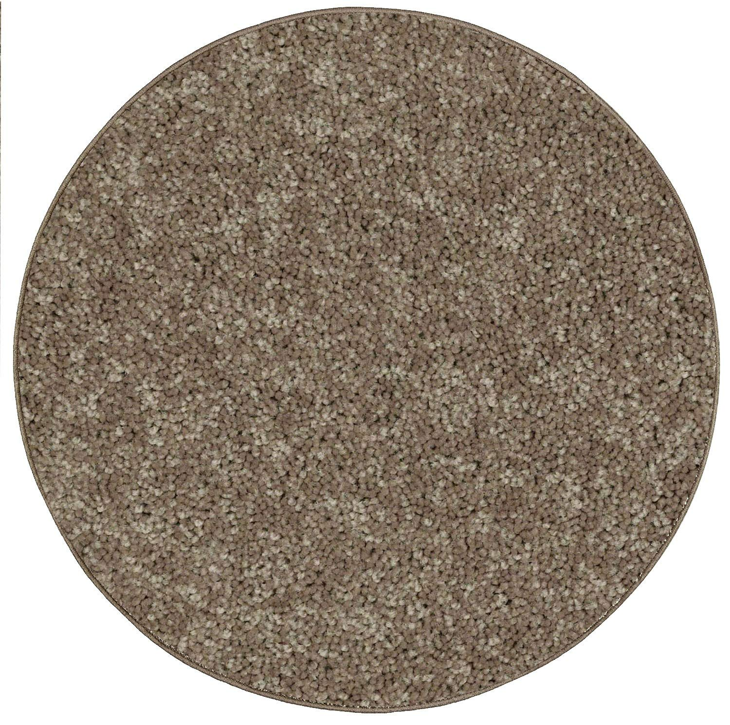 Color World Collection Way Solid Color Area Rugs Yellow - 7'x9' Oval
