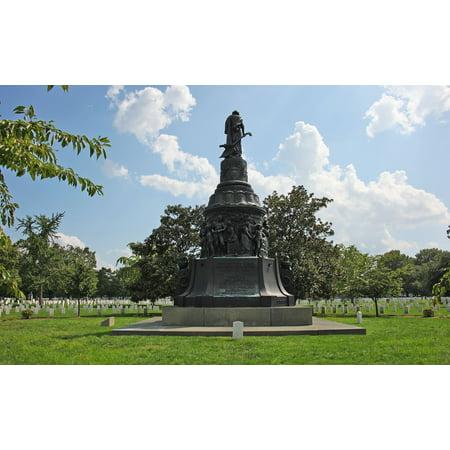 - LAMINATED POSTER Looking at the south at the Confederate Monument at Arlington National Cemtery in Arlington, Virgini Poster Print 24 x 36