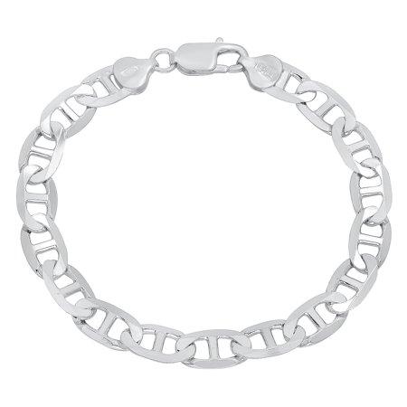 925 Sterling Silver 2.5mm-7.8mm Italian Crafted Mariner Bracelet Anklet 7