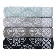 Better Homes & Gardens Thick and Plush Medallion Jacquard Bath Towel Collection