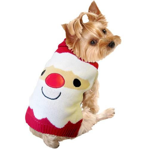 SimplyDog Giant Santa-Face Dog Sweater