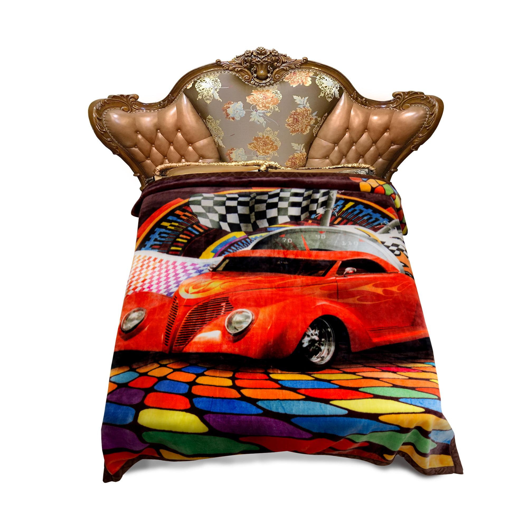 King Size Warm Raschel Blanket Soft Plush Heavy Thick Fleece Blanket For Winter 2 Ply 3D... by JML