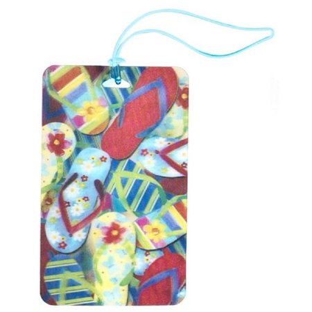 Flip Flop Luggage (Ganz, Inc. 3D Luggage Tags - Flip Flops )