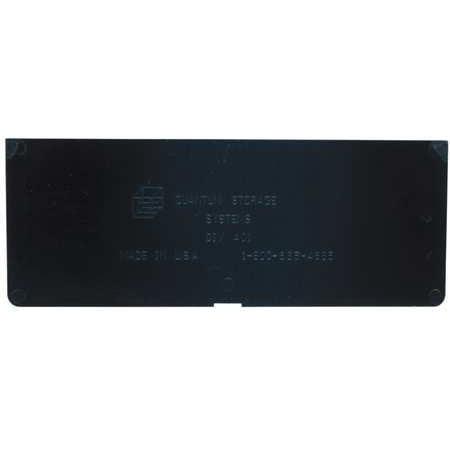 QUANTUM STORAGE SYSTEMS Divider,Euro Drawer,5.5x2.25,Black,PK4