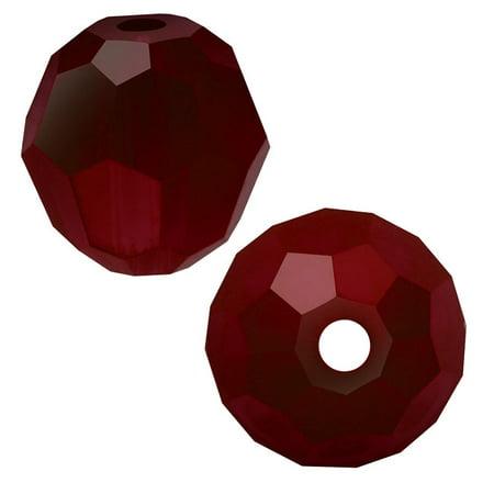 Swarovski Crystal, #5000 Round Beads 6mm, 10 Pieces, Siam