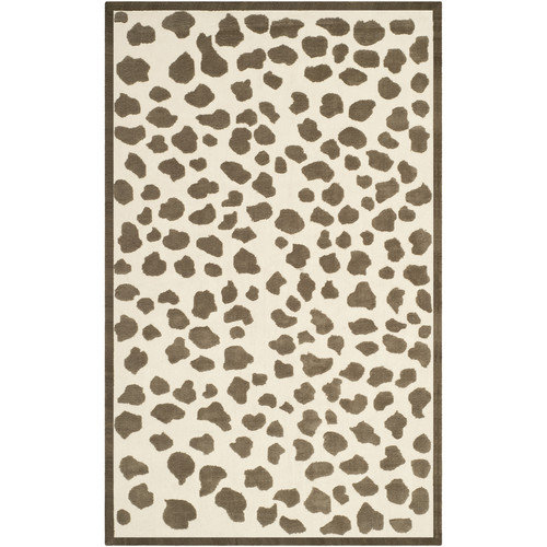 Safavieh Kids Brown & White Rug