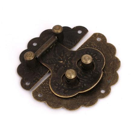 60mmx60mm Vintage Style Bronze Tone Suitcase Decorative Hasp Latch Lock