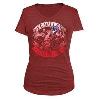 FC Dallas 5th & Ocean by New Era Women's Tri-Blend V-Neck T-Shirt - Red