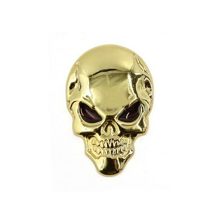 Unique Bargains Metal Car Ornament Auto Skeleton Skull Bone Design 3D Sticker - Skelly Bones