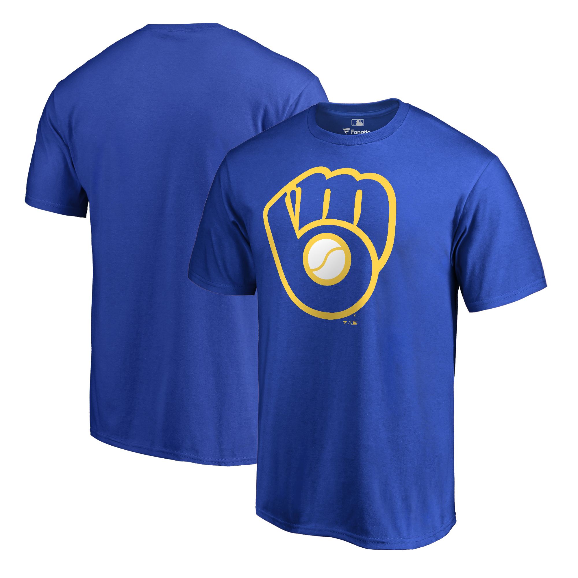 Milwaukee Brewers Fanatics Branded Big & Tall Cooperstown Collection Huntington T-Shirt - Royal