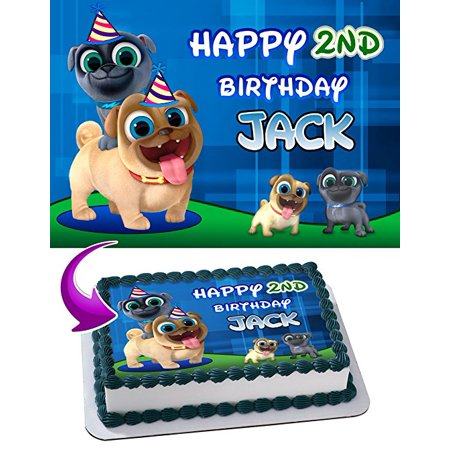 - Puppy Dog Pals Edible Image Cake Topper Personalized Icing Sugar Paper A4 Sheet Edible Frosting Photo Cake 1/4 Edible Image for cake