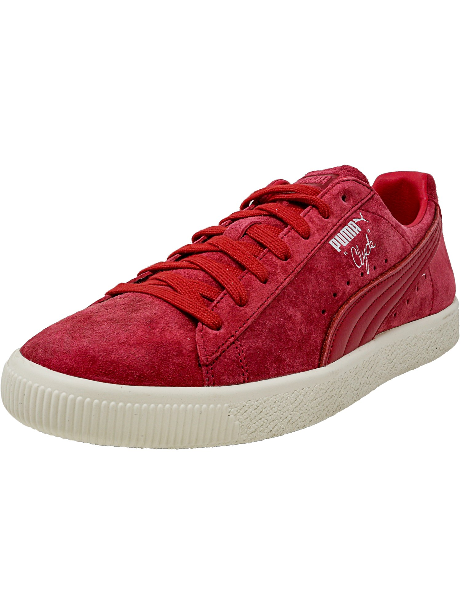 Puma Men's Clyde Normcore Chili Pepper / Ankle-High Suede Fashion Sneaker - 11M