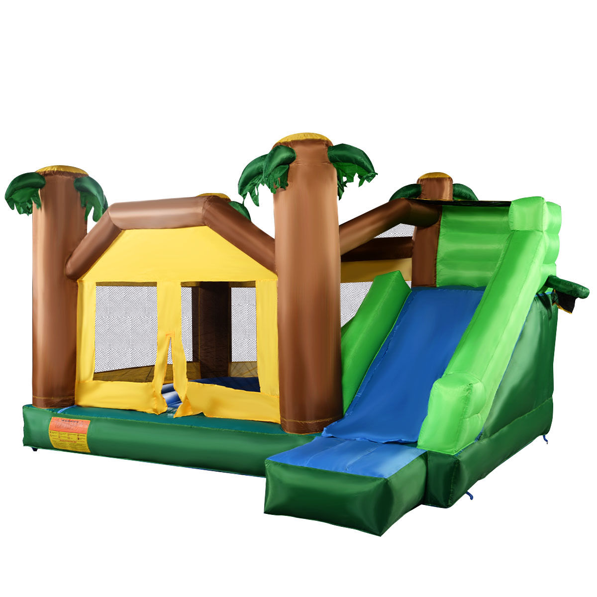 Costway Inflatable Moonwalk Jungle Bounce House Jumper Bouncy Jump Bouncer Castle