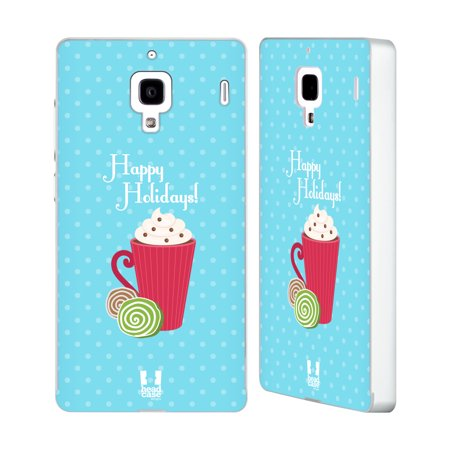 Head Case Designs Holiday Treats Silver Aluminium Bumper Slider Case For Huawei Xiaomi Phones