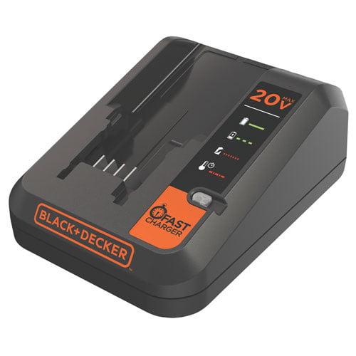 BLACK+DECKER 20-Volt MAX* Fast Charger, BDCAC202BW
