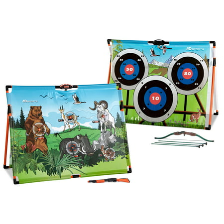 MD Sports 2 in 1 Big Game Hunting and Super Shot Archery with LED Electronic Scoring System