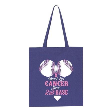 Artix Cancer Awareness Handbag Don T Let Steal 2nd Base Ribbon Support Gift Tote Handbags Bags For Work School