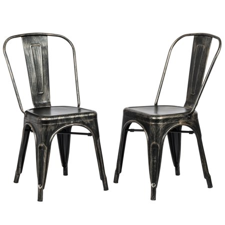 Vitra Set Chair - Carolina Chair and Table Viola Industrial Metal Dining Chairs - Set of 2