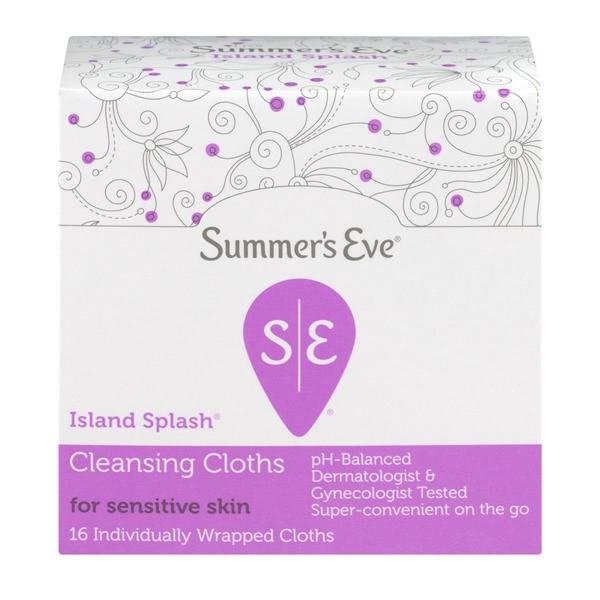 Summer's Eve Island Splash Cleansing Cloths, 16 cloths