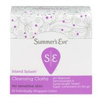 Summer's Eve, Cleansing Cloths, Island Splash, 16 Ct