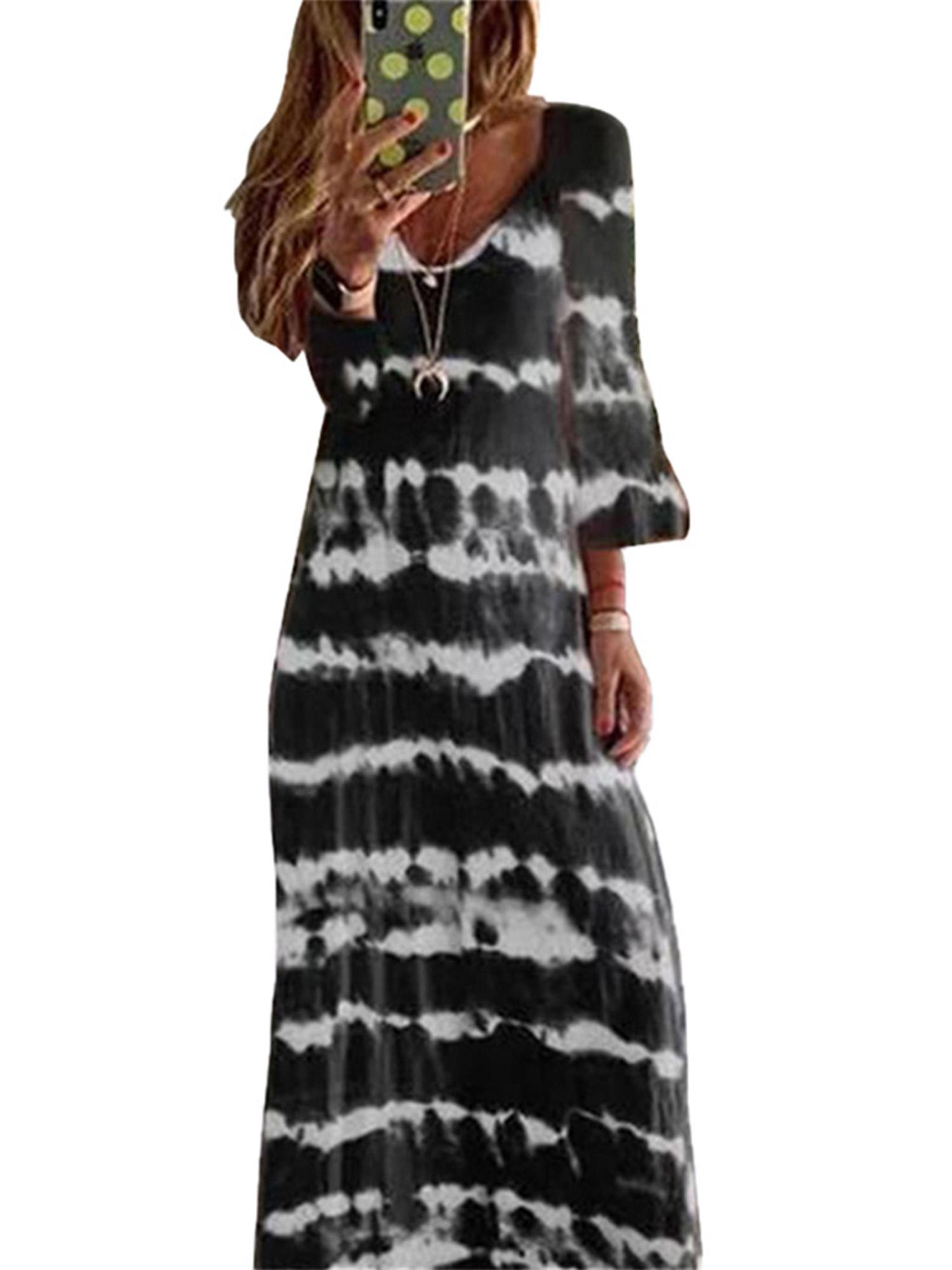 Pink cotton stripe long kaftan loungewear bridesmaid dress maternity wife gift anniversary plus size maxi boho tunic sleepwear dressing gown