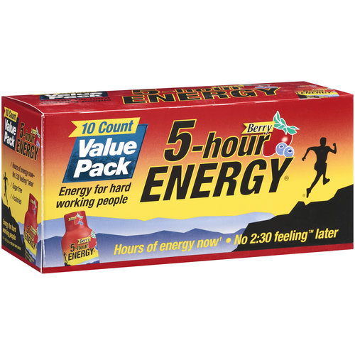 5-Hour Energy Berry Dietary Supplement Value Pack, 10ct