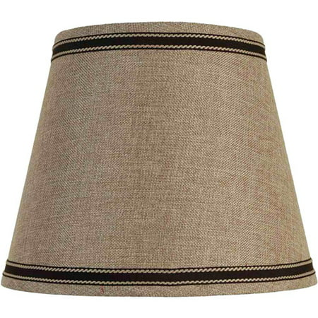 Better Homes and Gardens Fabric Drum Shade, Black Trim