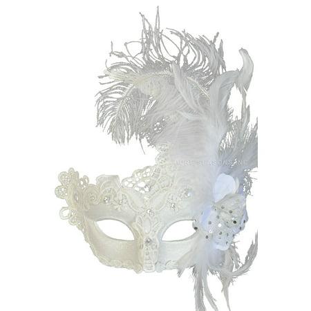 Feathered Swan Venetian Mask
