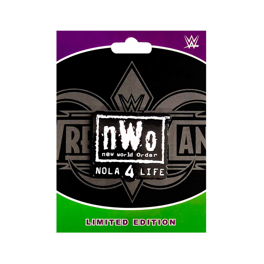 "Official WWE Authentic nWo ""NOLA 4 Life"" Pin Black"