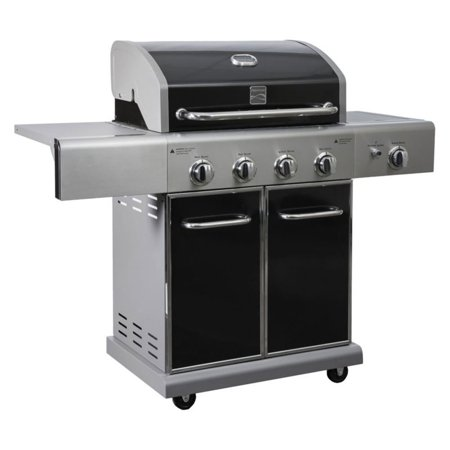 Kenmore PG-40409SOLB 4 Burner BBQ Gas Grill with Side ...
