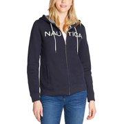 Nautica Women's Signature Logo Full Zip Hoodie Sweatshirt Jacket