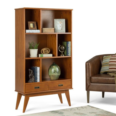 WyndenHall  Tierney SOLID HARDWOOD 64 inch x 35 inch Mid Century Modern Wide Bookcase and Storage Unit - 35