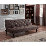 DHP Charleston Vintage Futon, Brown Upholstery