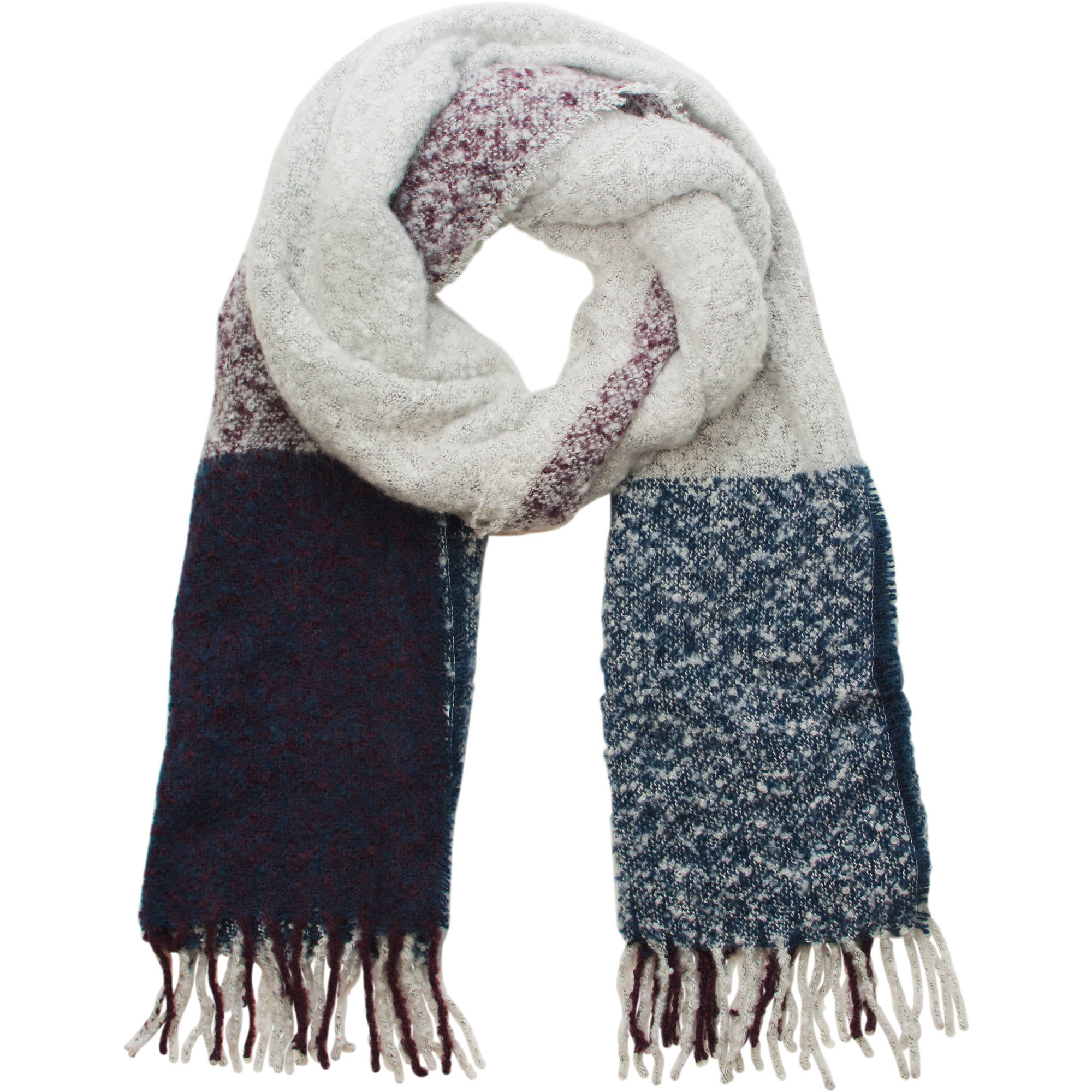Faded Glory Women's Oversized Color Block Scarf