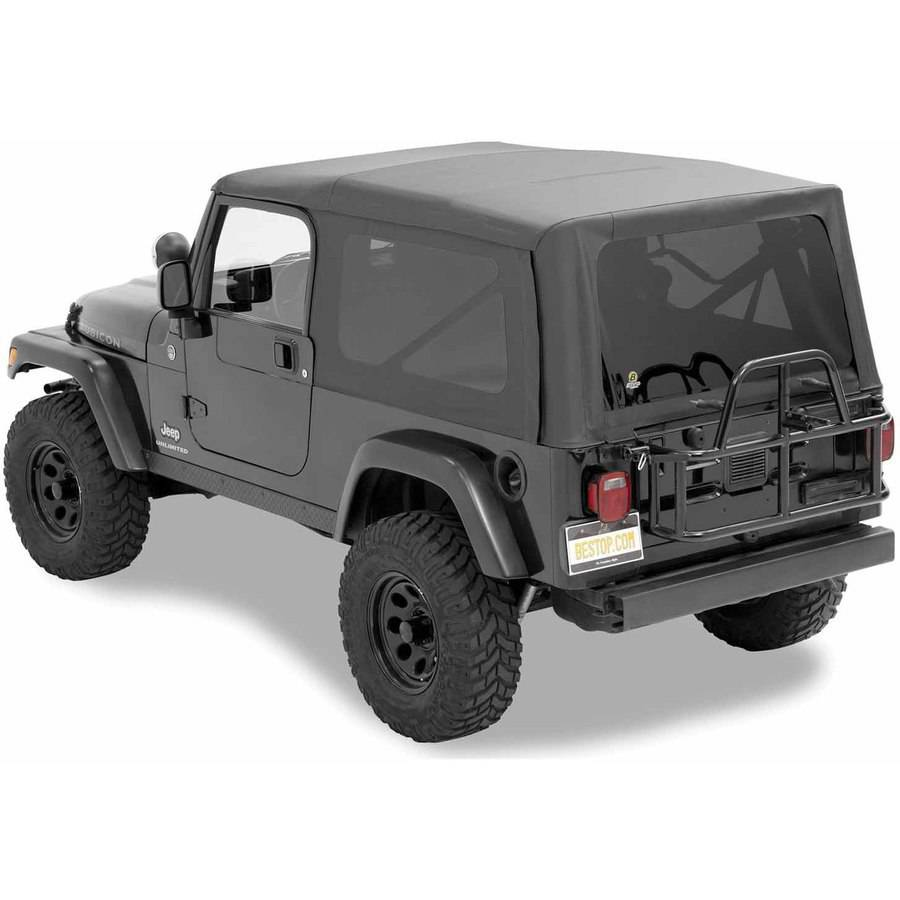 Bestop 54721-35 Jeep Wrangler Unlimited with Tinted Windows Supertop Replacement Top, Black Diamond