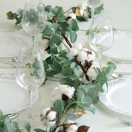 Efavormart 5 FT | Real Touch Artificial Garland Vines For Wedding Events Decoration - Garland Wedding Decoration