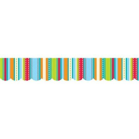 Stripes & Stitches Shapes Border