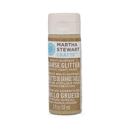 Martha Stewart Crafts Multi-Surface Coarse Glitter Paint: Florentine Gold, 2