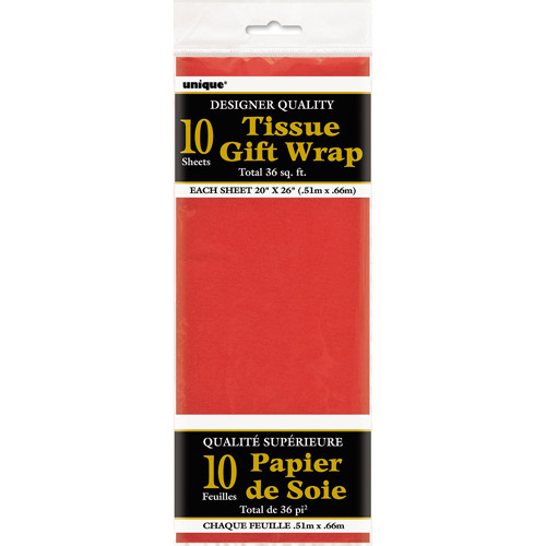 Red Tissue Paper Sheets, 10pk
