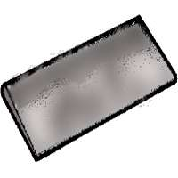 Norton 61463687715 A/O Single Grit Sharpening Stone, Coarse