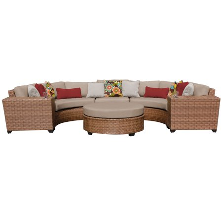 tuscan 6 piece outdoor wicker patio furniture set 06c