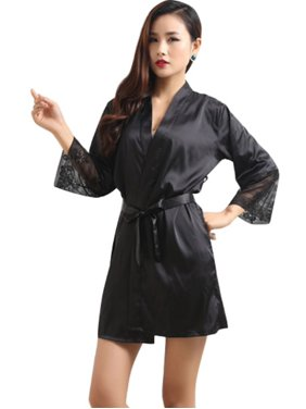 Product Image EFINNY Women Summer Satin Sexy Sleepwear Robes e5f06214f