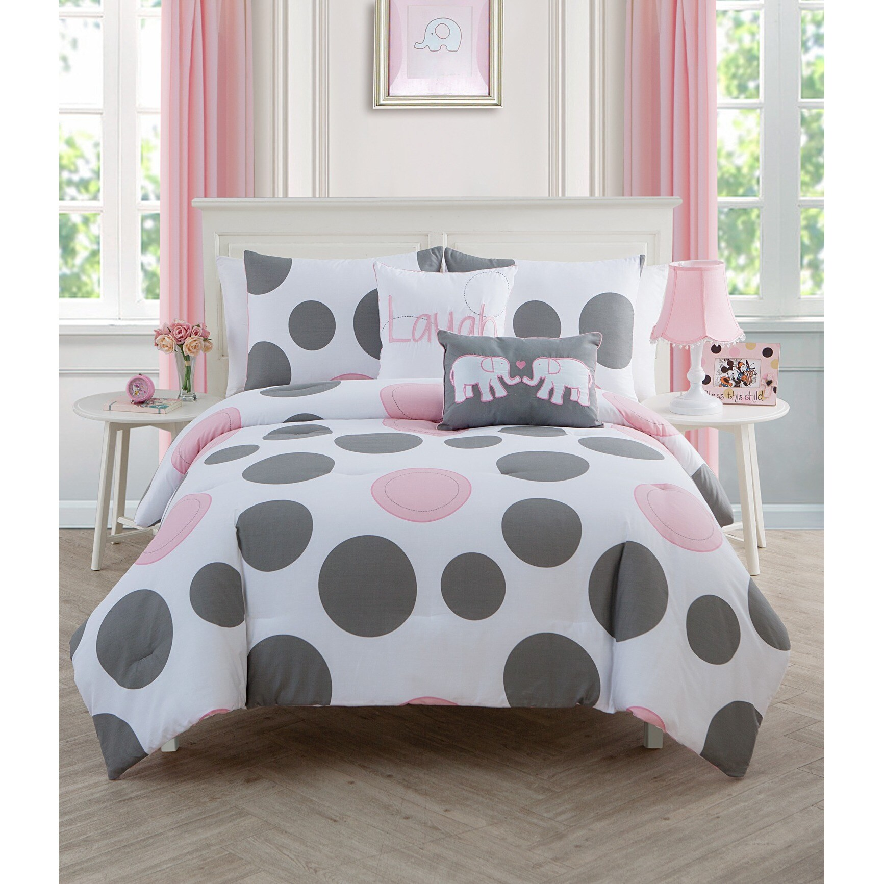 3-Piece Victoria Classics Company PPD-3CS-FULL-MC-P5 VCNY Parade Full Comforter Set Pink