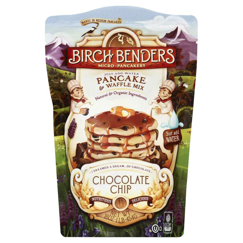 Birch Benders Micro-Pancakery Pancake & Waffle Mix Chocolate Chip 16 oz by Birch Benders