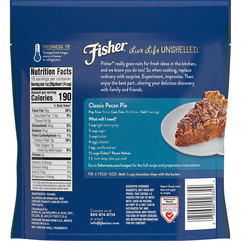 Fisher Chef\'s Naturals Pecan Halves, 10 oz - Walmart.com
