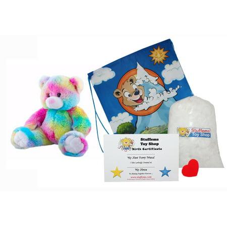 Make Your Own Stuffed Animal 16 Inch Rainbow Bear Kit - No Sewing Required! - Rainbow Bears