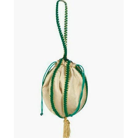 Renaissance Pouch Green and Gold Egyptian Bag Purse Handbag Costume Accessory - image 1 de 1