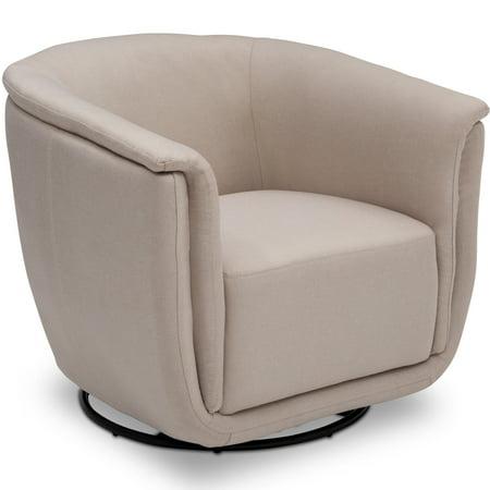 Delta Children Lindsey Glider Swivel Rocker Tub Chair, Flax